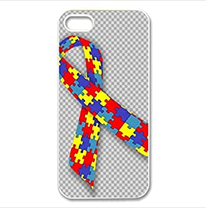 colorful Autism Awareness Puzzle Pieces pattern Custom Case for iPhone 5C PC case cellphone cover white