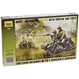 Zvezda Models 1/35 Soviet Motorcycle with Sidecar M-72 [parallel import goods]
