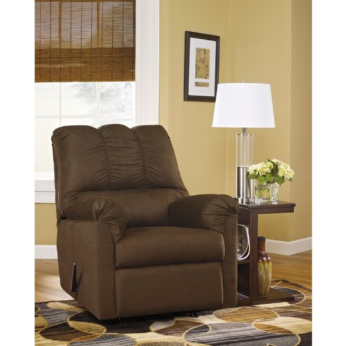 StarSun Depot Signature Design by Ashley Darcy Rocker Recliner in Cafe Microfiber 33