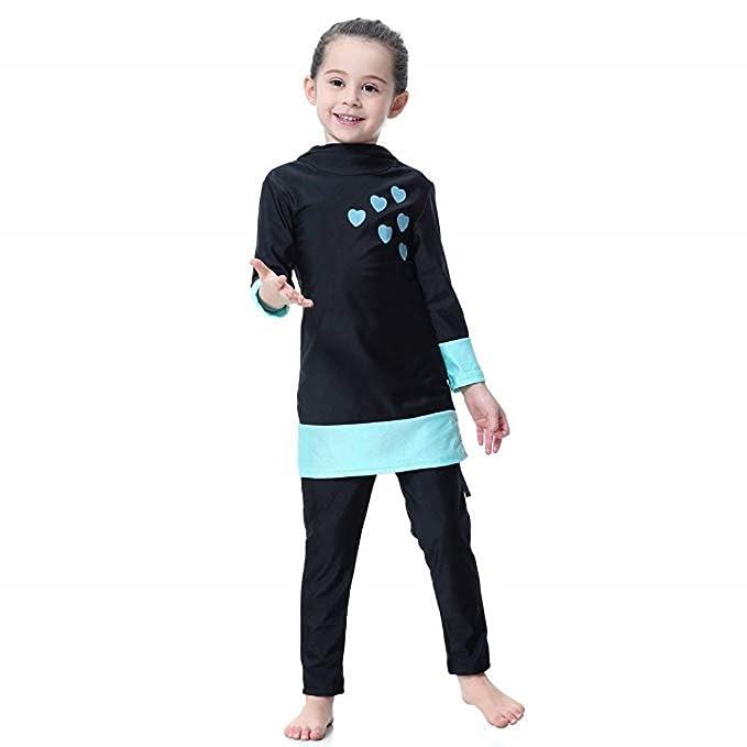 2e1907dda3647 KXCFCYS Muslim Swimwear for Kid Girls Children Modest Islamic Hijab  Swimsuits Burkini  Amazon.ca  Clothing   Accessories