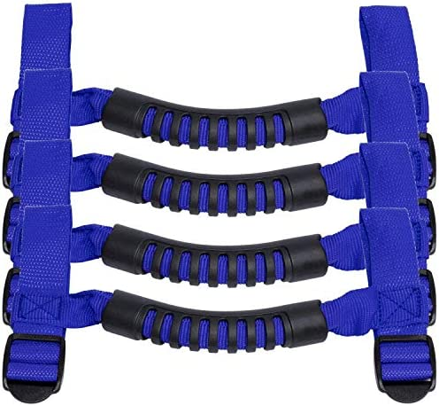 Blue E-cowlboy Blue 4 X Grab Handles Grip Handle for Jeep Wrangler Yj Tj Jk JKU Sports Sahara Freedom Rubicon X /& Unlimited X 2//4 Door 1995-2016