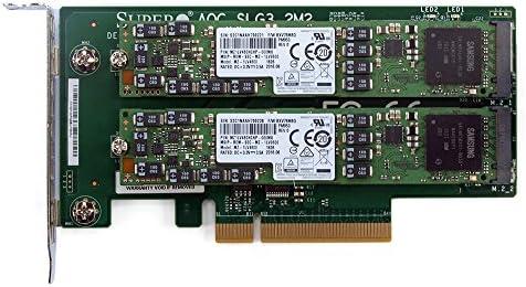 Supermicro AOC-SLG3-2M2 PCIe NVMe Dual M 2 x8 Gen 3 Adapter Card