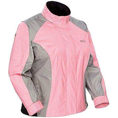 Womens Sentinel Rain Jacket - Tour Master Sentinel Women's Jackets Street Racing Motorcycle Rain Suit - Pink/Large