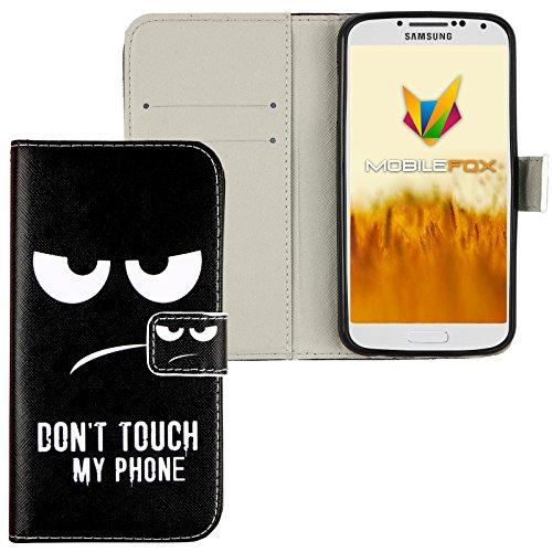 Mobilefox Dont touch Flip Case Handytasche Samsung Galaxy S4
