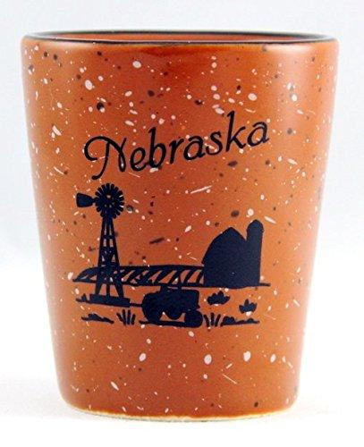 Nebraska Farm Scene Ceramic Shot Glass