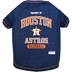MLB Houston Astros Dog T-Shirt, Medium. - Licensed Shirt for Pets Team Colored with Team Logos