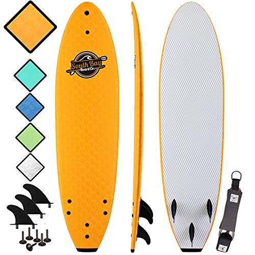 Soft Top Surfboard - Best Foam Surf Board for Beginners, Kids, and Adults - Soft Top Surfboards for Fun & Easy Surfing - 7