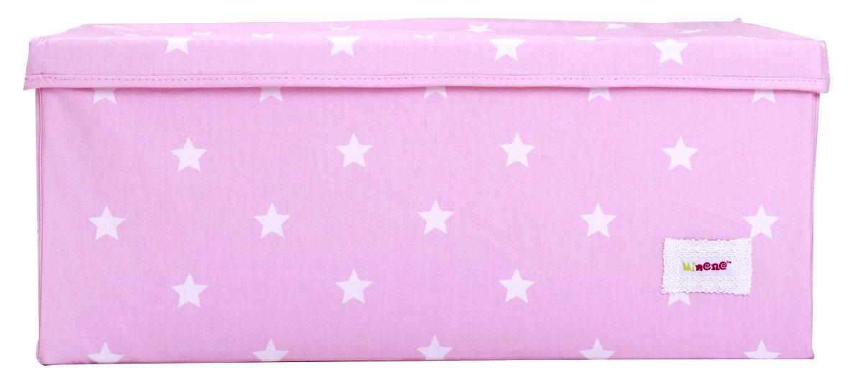 Minene Aufbewahrungsbox (Pink mit weißen Sternen, groß) groß) 21161