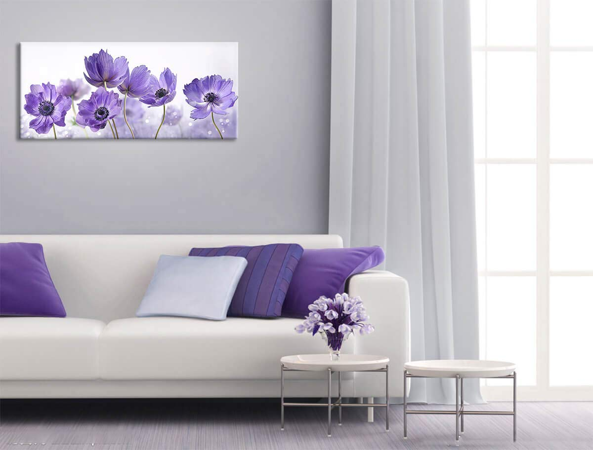 Bedroom Decor Large Purple Flower Calliopsis Bloom Pictures Canvas Art Wall  Decor Simple Life Modern Kitchen Wall Decor Artwork for Walls Framed Wall  ...