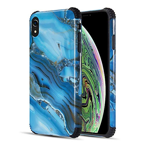 Bemz Marble Stone TPU Case Designed for Apple iPhone XR - Blue ()