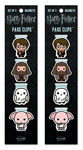Re-marks Harry Potter Chibi Hogwarts Magnetic Page Clips (2 Packs)