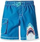 Hatley Boys' Little Board Shorts, Toothy Shark, 3 Years