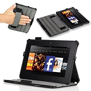 Poetic HardBack Protective Case for Amazon Kindle Fire HD 7 (2012 Old Model) Tablet Black (Automatically Wakes and Sleep Funcition)(Intergrated HandStrap)(Has Open Slot for Charger Port)