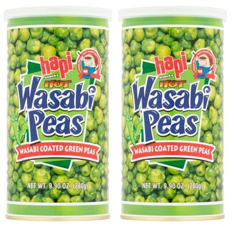 Hapi Snacks Wasabi Peas, Hot, 9.9 Oz (Pack of 2)