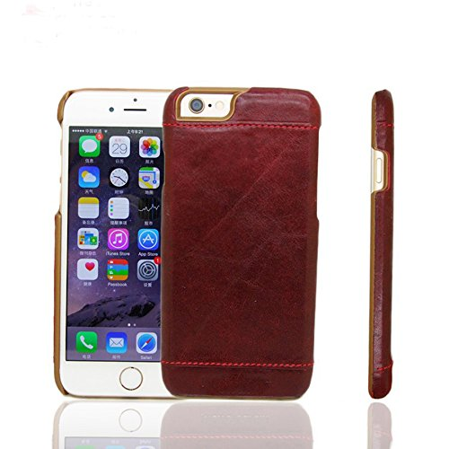 NewBreed Original Leather Back Cover for Apple iPhone 7 Red