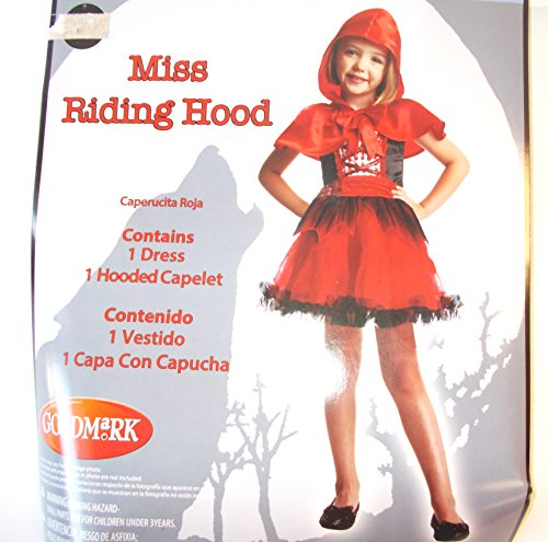 Hood Riding Miss (Goodmark Girl's Miss Riding Hood Size Large (10-12))