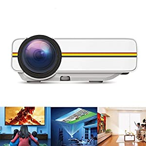 DIWUER Video Projector 1200 Lumens Full HD Home Theater