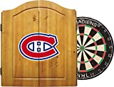 Imperial Officially Licensed NHL Merchandise: Dart Cabinet Set with Steel Tip Bristle Dartboard and Darts, Montreal Canadiens