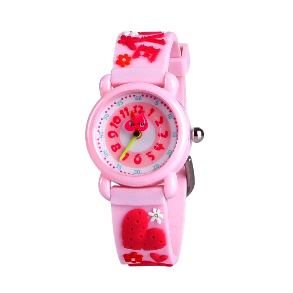キッズギフトおもちゃ、3d Lovelyカートン防水時計の女の子と少年、2018最新のデザイン – Bestギフト B07CR9KHXJ Love Pink Love Pink