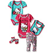 Hello Kitty Baby Girls' Baby Gift Set, Shocking Pink, 3-6 Months