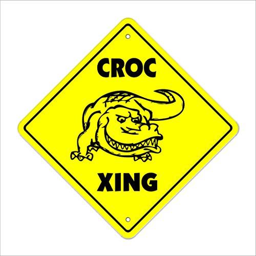 Florida Gators Salt - Croc Crossing Sign Zone Xing | Indoor/Outdoor | 12
