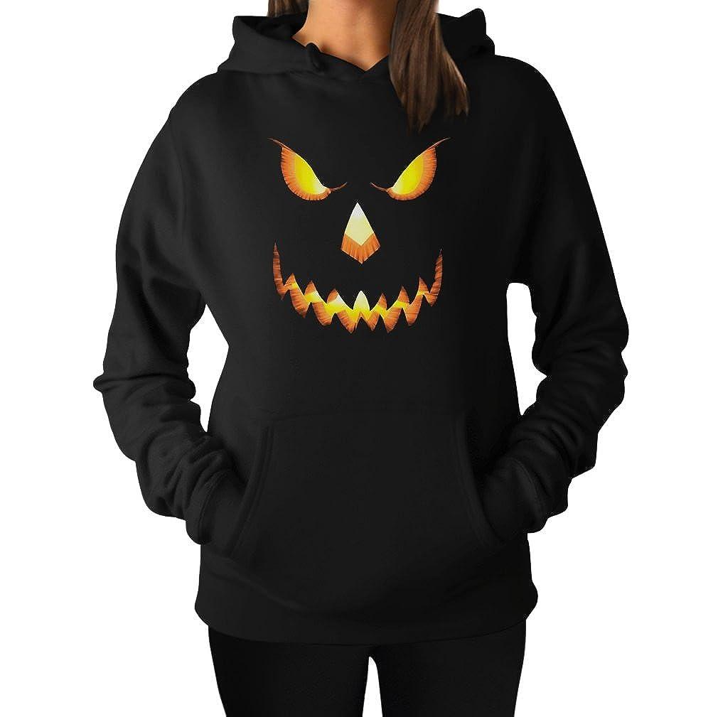 Halloween Scary Pumpkin Face Jack O'Lantern Women's Hoodie GPaPlPgK9