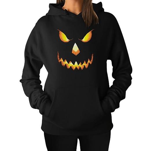 Halloween Scary Pumpkin Face Jack O'lantern Women's Hoodie
