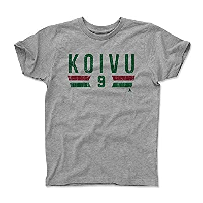 500 LEVEL's Mikko Koivu Kids Shirt - Minnesota Hockey Fan Gear - Mikko Koivu Font