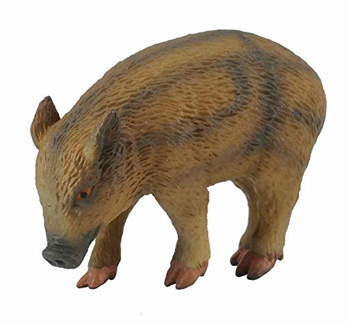 CollectA Woodlands Wild Piglet (Eating) Miniature Toy Figure - Authentic Hand Painted Model (Boar Hog)