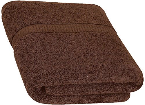 Cotton Bath Towels (Dark Brown, 30 x 56 Inch) Luxury Bath Sheet Perfect for Home, Bathrooms, Pool and Gym Ringspun Cotton by Utopia Towels