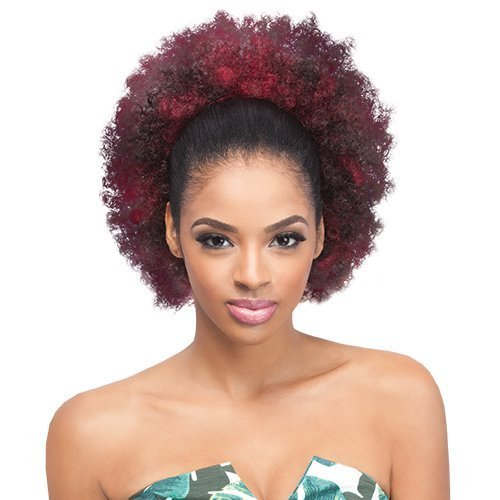 Drawstring Synthetic (Outre Synthetic Drawstring Ponytail Timeless Afro Large (1B))