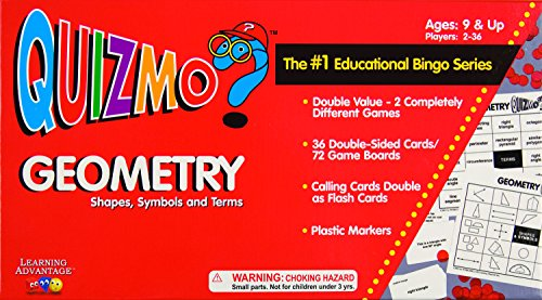 Learning Advantage 8241 Quizmo Geometry, Shapes, Symbols and Terms, AGES: 9 & UP
