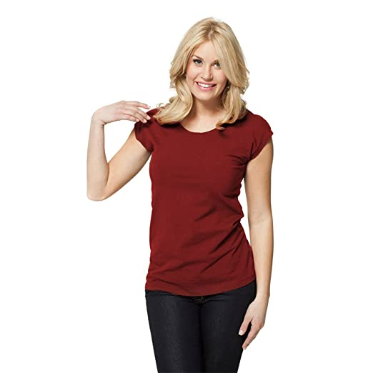 33266487 modbod | Lotus Effect | Modest Layering Scoop Neck Cap Sleeve Shirt - Extra  Length (Small, Rhubarb) at Amazon Women's Clothing store: Fashion T Shirts
