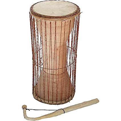 Amazon com: Ghana Talking Drum with Stick: Musical Instruments
