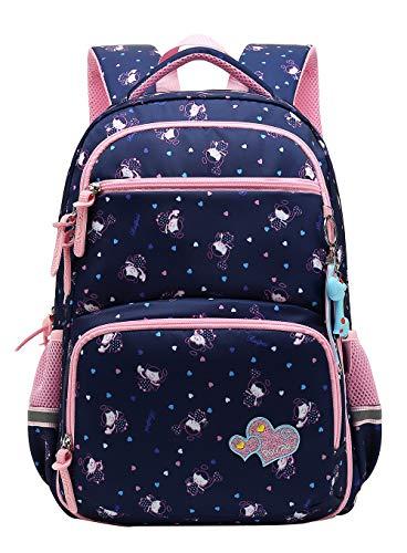Girl Multipurpose Dot Primary Junior School Bag Bookbag Backpack (22 Liters,Style B Dark ()