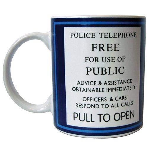 Warning Ceramic Travel Mug - Underground Toys Doctor Who Tardis Travel Coffee Mug, 11 oz