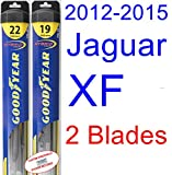 2012-2015 Jaguar XF Replacement Wiper Blade Set/Kit (Set of 2 Blades) (Goodyear Wiper Blades-Hybrid) (2013,2014)