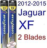 2012-2015 Jaguar XF Replacement Wiper Blade Set/Kit (Set of 2 Blades) (Goodyear Wiper Blades-Hybrid) (2013,2014)