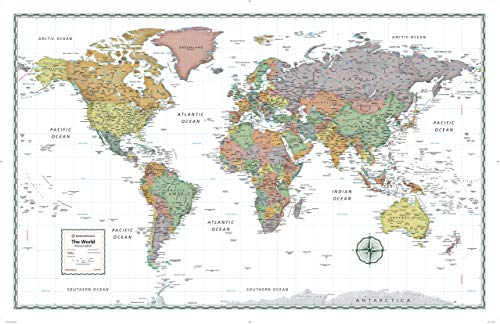 Rand McNally Premium World Wall Map