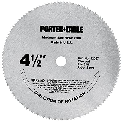 PORTER-CABLE 12057 4-1/2-Inch 120 Tooth TCG Plywood Cutting Saw Blade with 3/8-Inch Arbor by PORTER-CABLE