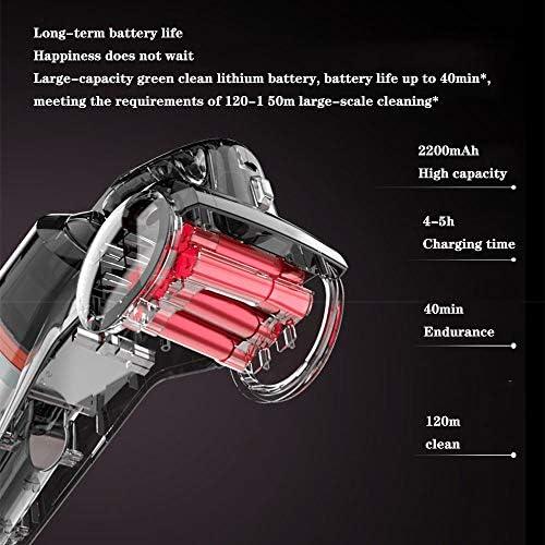 GTRR Aspirateur Maison Portable sans Fil Voiture Verticale Petit Aspirateur Puissant Haute Puissance 150W-Blanc