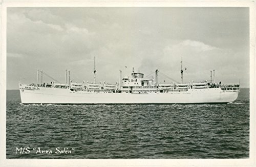 Vintage photo of Sal233;n shipping company39;s passenger ship M / S Anna Sal233;n one of the larger Swedish passenger ships with seating for 1500 (Person Seating)
