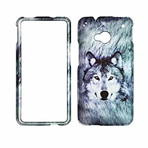 Snow Wolf HTC One , M7 Verizon, AT&T, Sprint, T-Mobile Case Cover Hard Case Snap-on Cases Protector