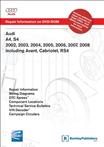 audi a4 s4 2002 2003 2004 2005 2006 2007 2008 includes avant rh amazon com 2010 Audi A4 2000 audi a4 repair manual