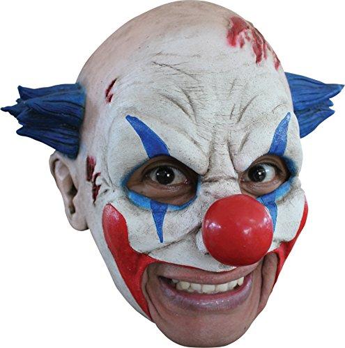 Insane Person Halloween Costume (Insane Circus Clown Scary Latex Adult Halloween Costume Mask)