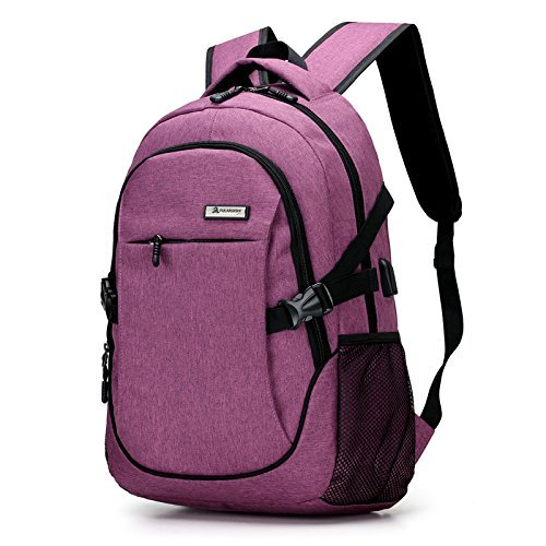Mocha weir School 15.6 Inches Laptop Backpack with USB Charg