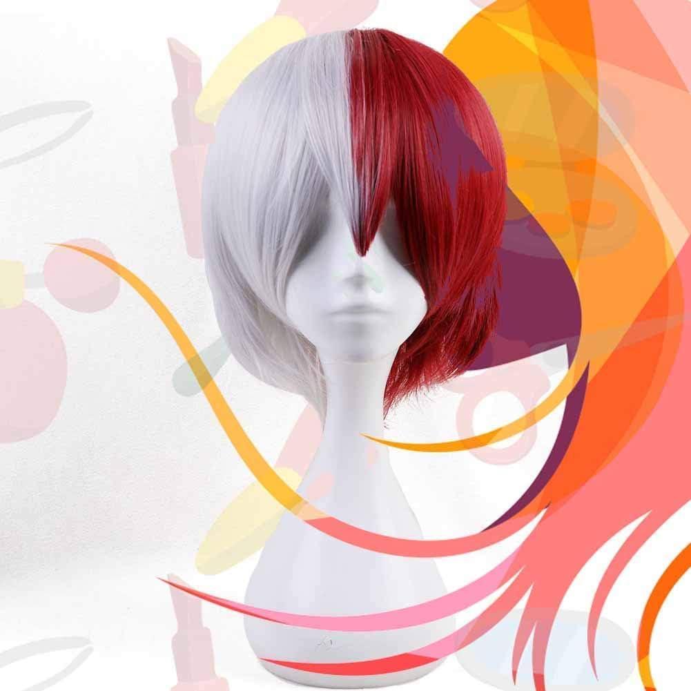 Moda Capelli Parrucca Festa Decorazione Anime Ventole Regalo per Cosplay Costume e Ogni Giorno Uso KroY PecoeD Anime Il Mio Eroe Accademia Cosplay Parrucca Dabi