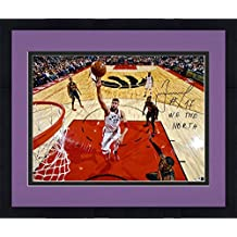 "Jonas Valanciunas Toronto Raptors Autographed 16"" x 20"" Floater Photograph with ""We the North"" Inscription - Fanatics Authentic Certified"