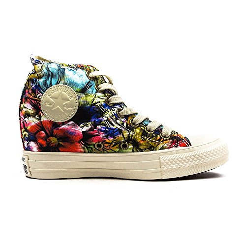 Converse Women's Chuck Taylor Lux Mid Hidden Platform Wedge Egret/Multi cheap sale newest authentic sale online free shipping visa payment latest collections online L79shVw