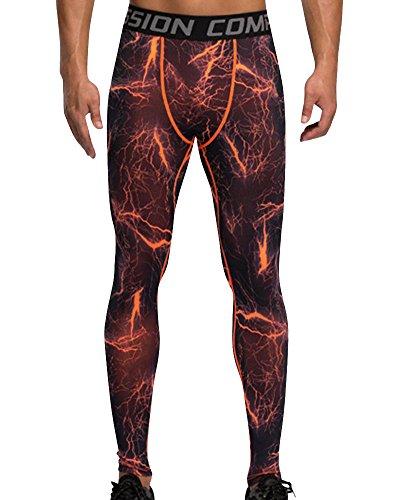 Wanqin Pantaloni Running Asciugatura Compressione 1 Rapida Leggings Da A Uomo frrwdF